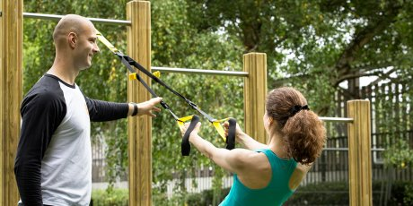 TRX suspension training with our top London Personal Trainers